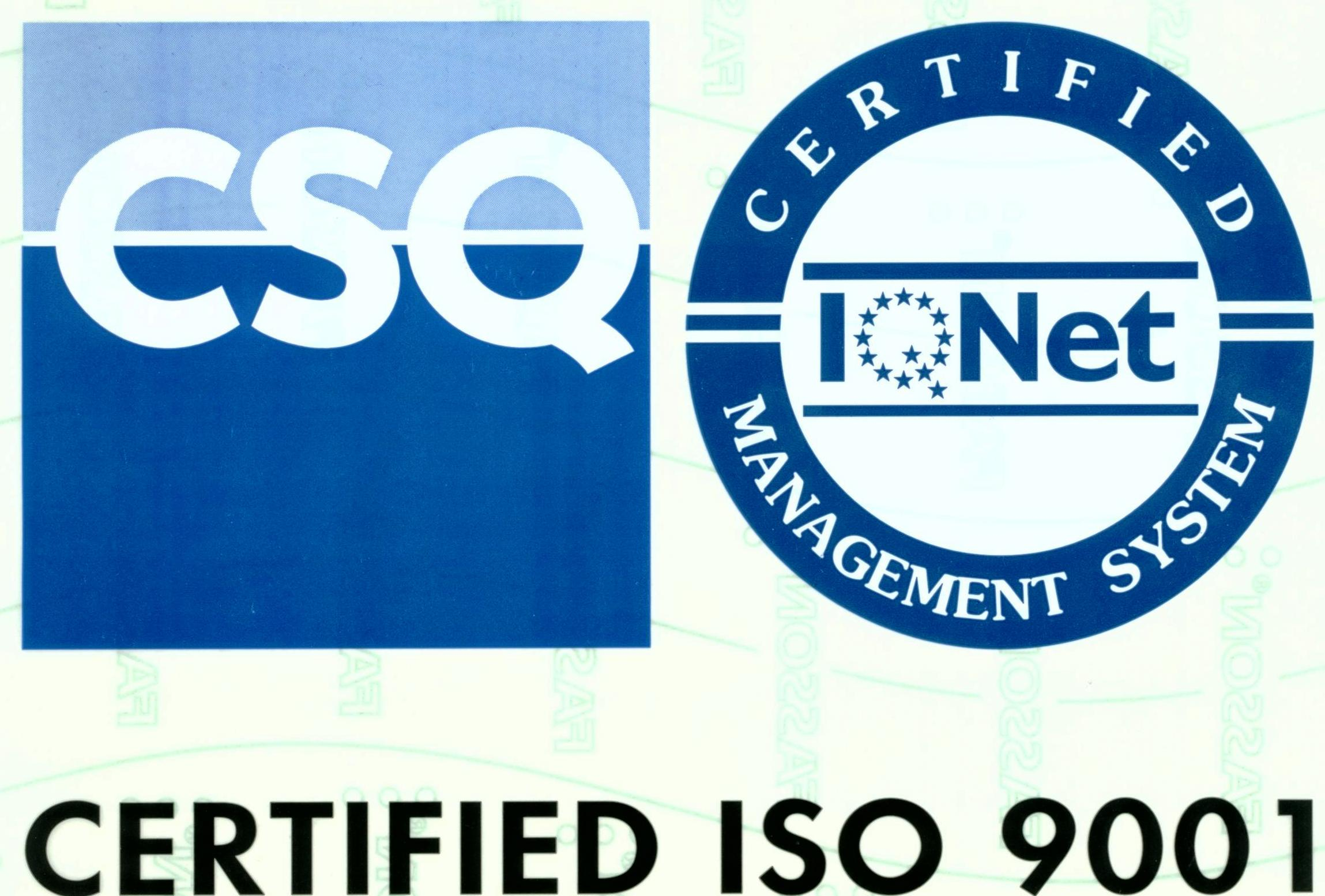 ISO9001 rivetta sistemi