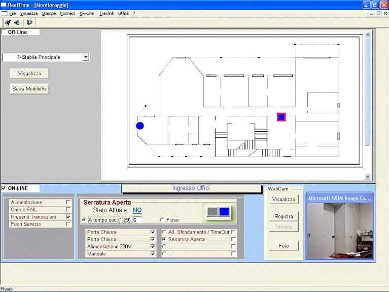 Schermata software accessi