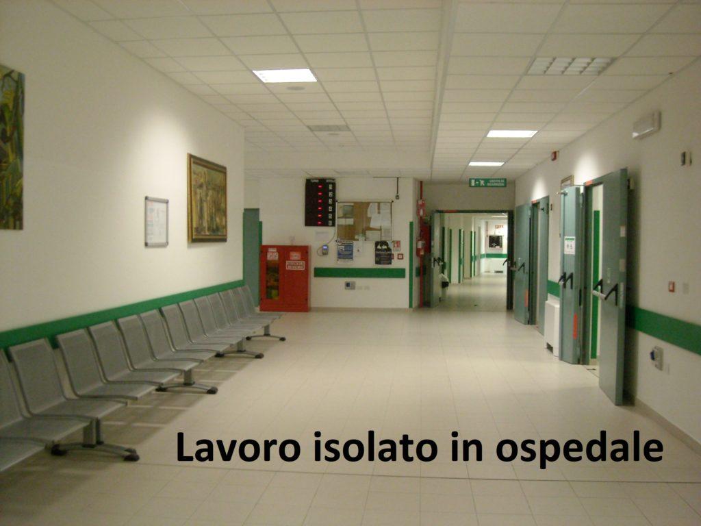 Il lavoro isolato nel settore ospedaliero