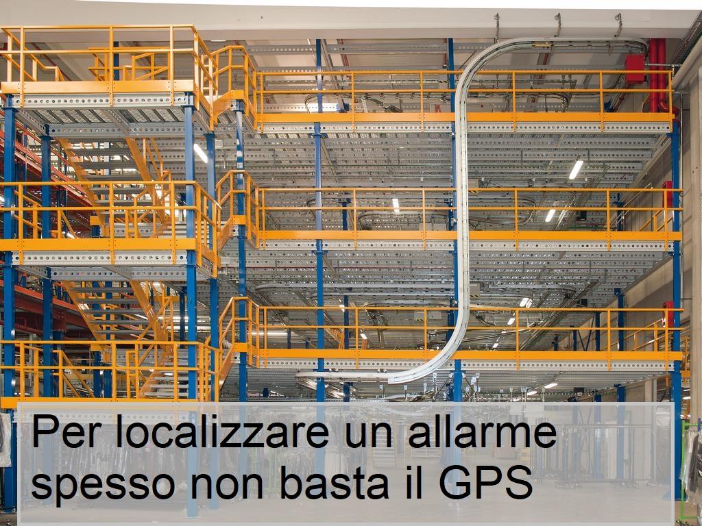 Il gps non permette di localizzare un evento all'interno di un edificio