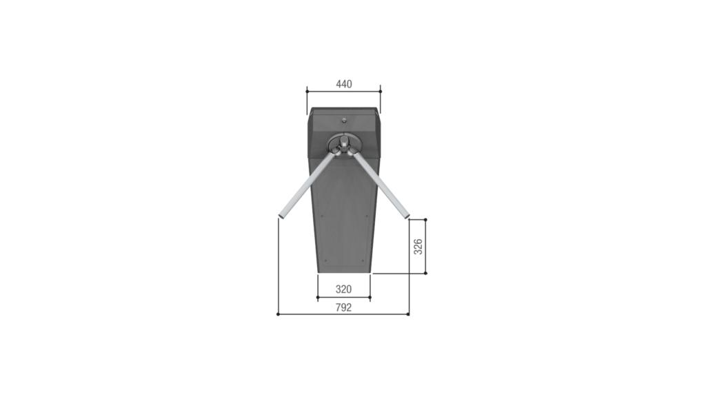 Ingombri frontali  tornello tripode TT01