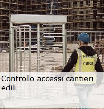 Controllo accessi cantieri edili