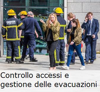 Controllo accessi e gestion e delle evacuzioni