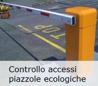Controllo accessi nei centri di multi raccolta