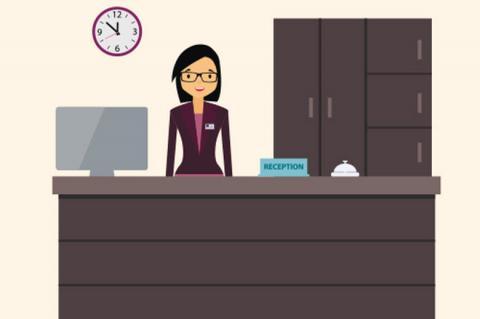 Reception gestione visitatori